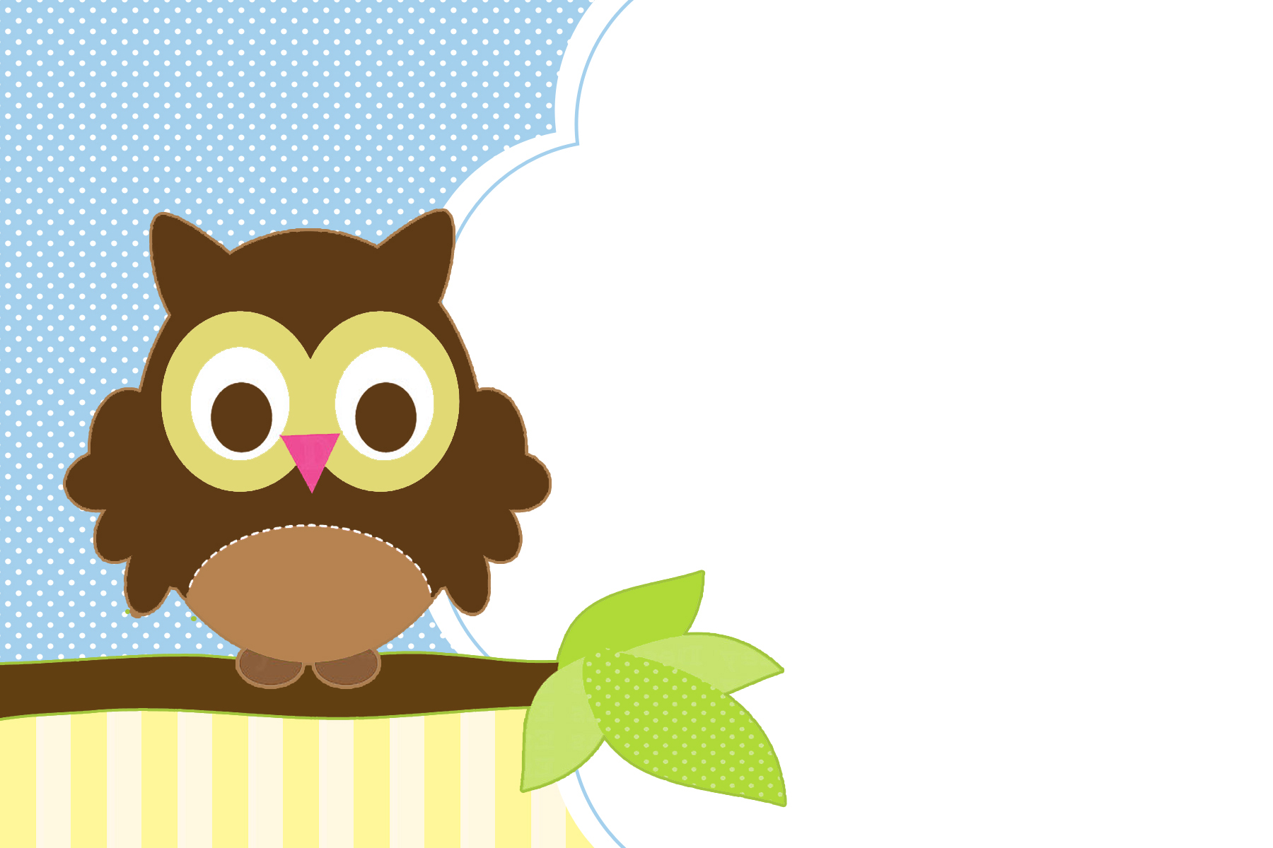 Free Printable Blank Owl Invitations