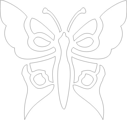 6 Images of Free Printable Butterfly Stencil Patterns