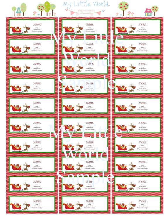 8 best images of free printable holiday mailing labels free printable christmas labels. Black Bedroom Furniture Sets. Home Design Ideas
