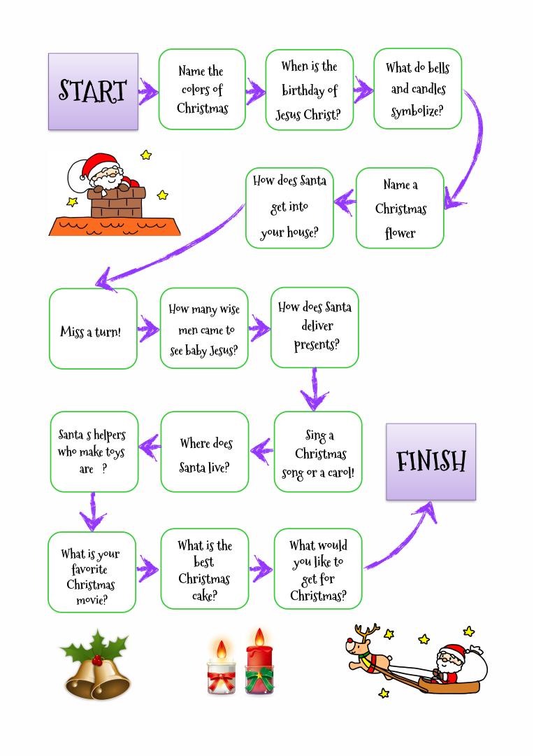 Printable Christmas Game Worksheets