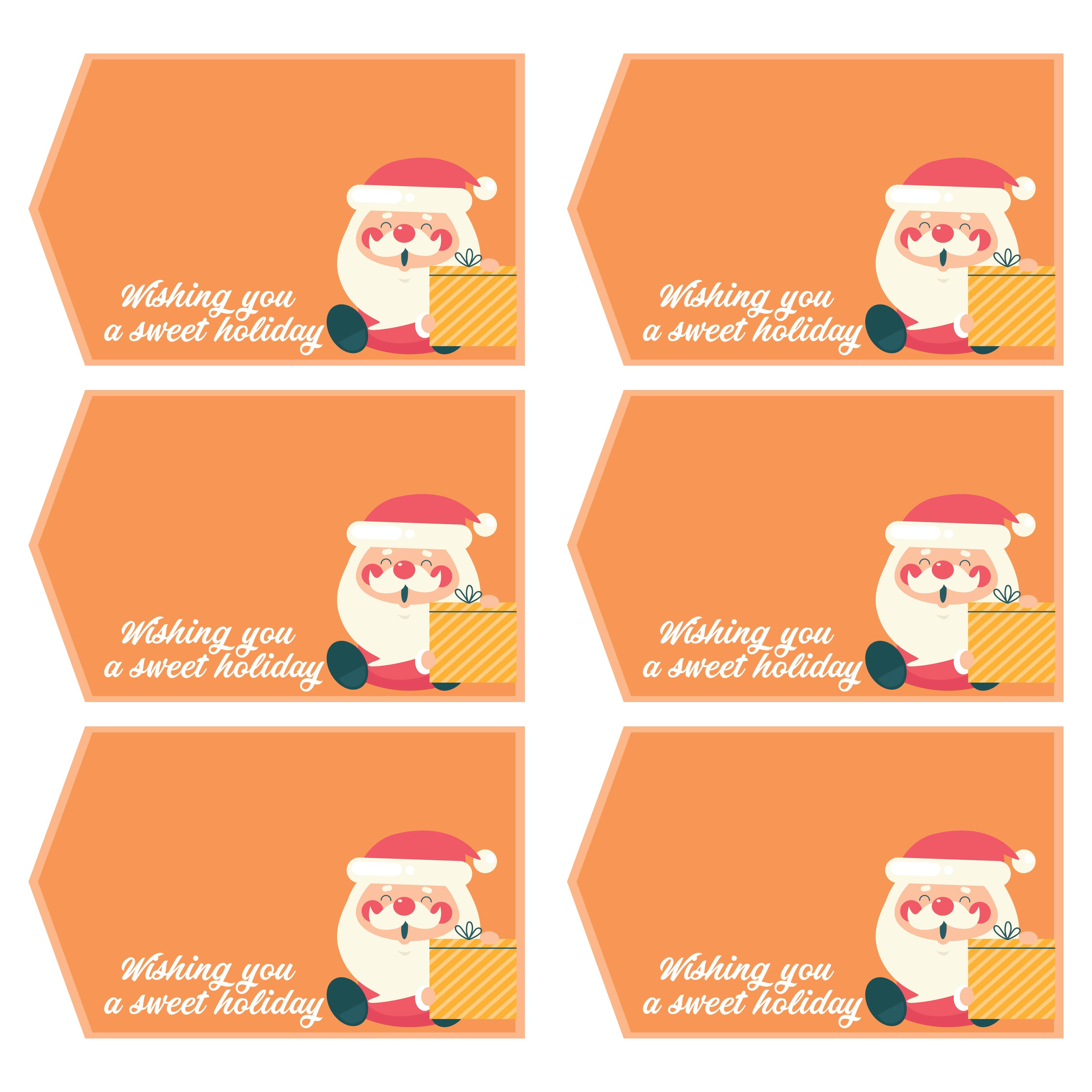 Printable Christmas Gift Name Tags