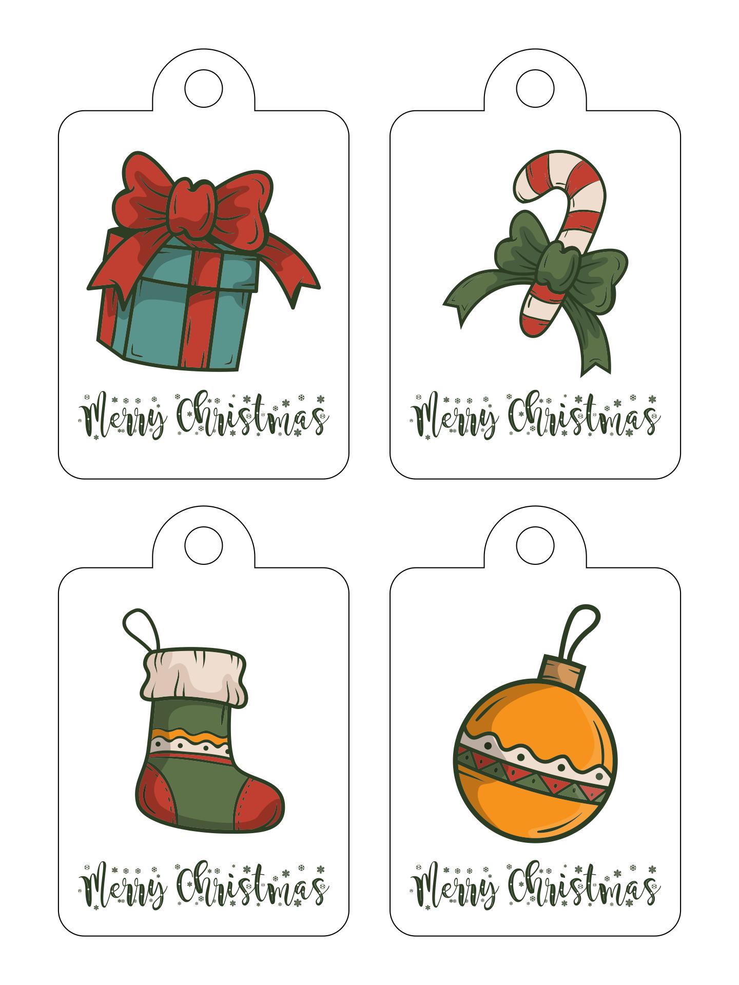 Printable Christmas Gift Tag Labels