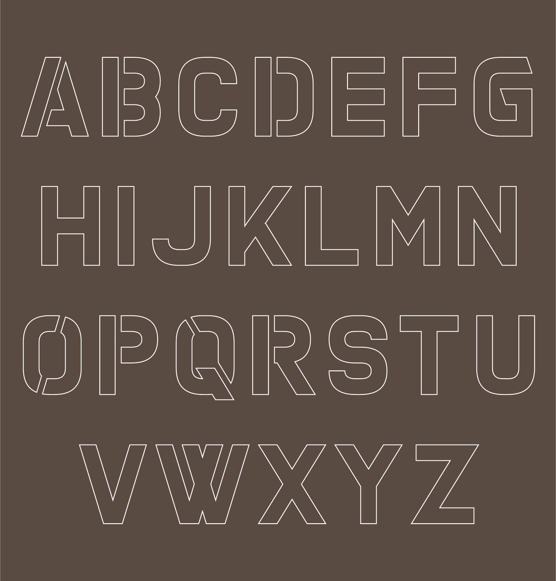 Printable Cut Out Alphabet Stencils