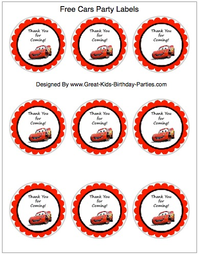 8 Images of Disney Cars Party Printables Free