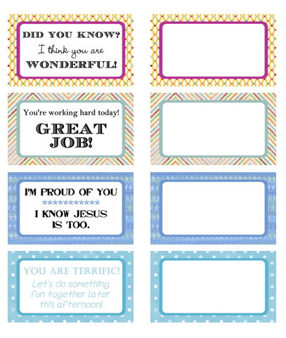 6 Images of Printable Encouragement Cards