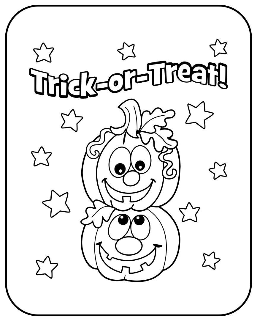 Printable Halloween Cards to Color