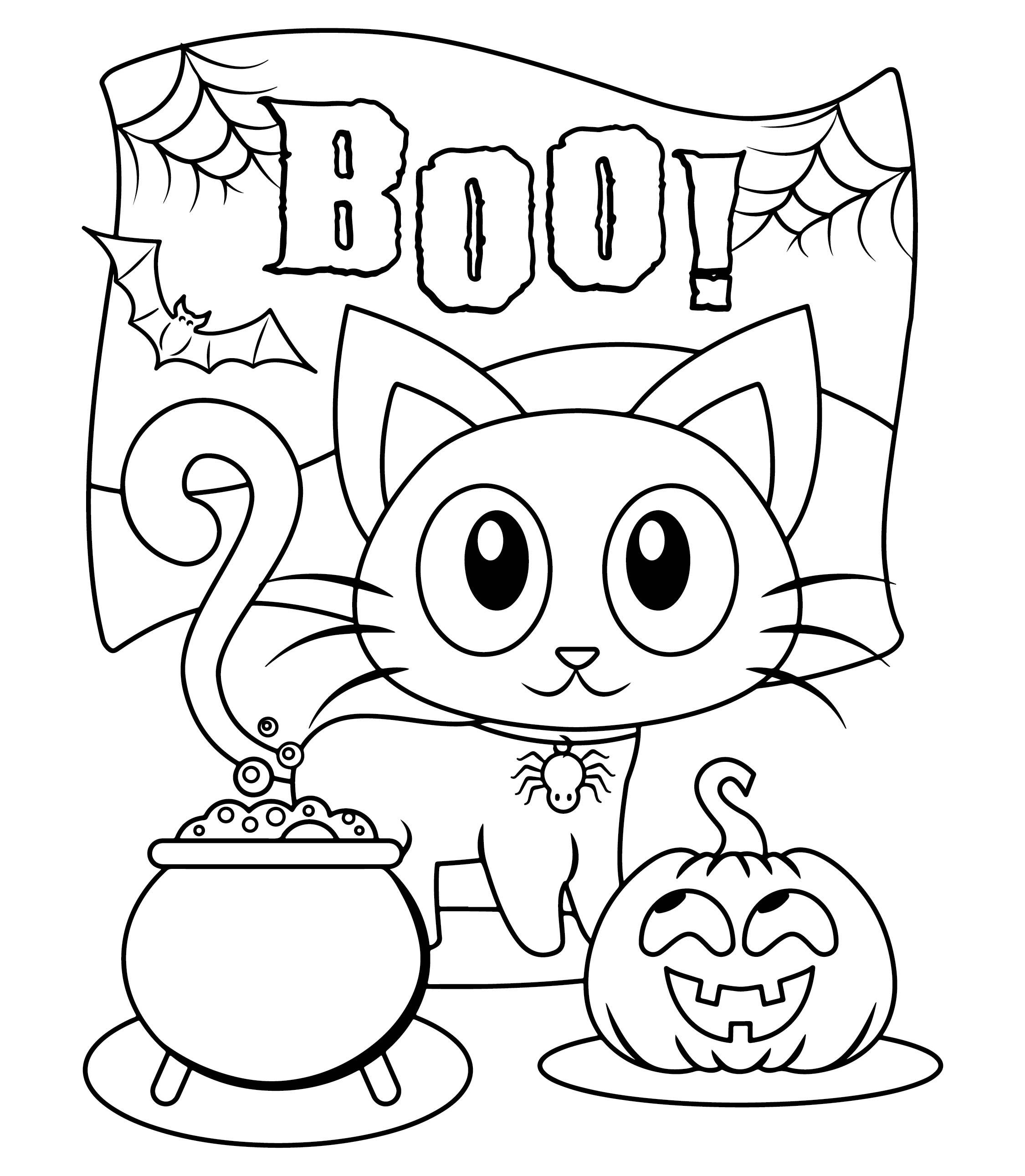6 best images of kindergarten halloween craft printables for Preschool halloween coloring pages