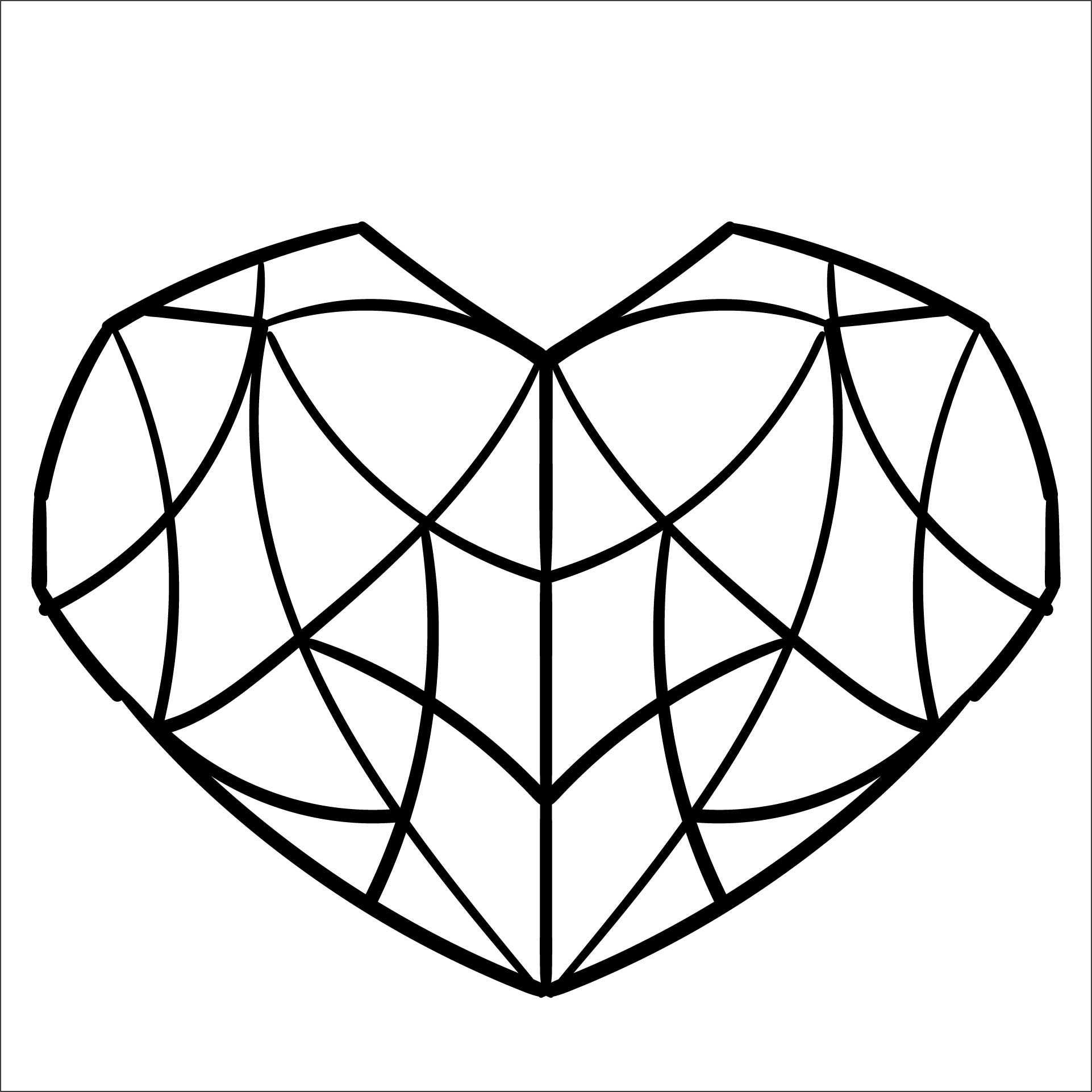 Printable Heart Stencil Templates