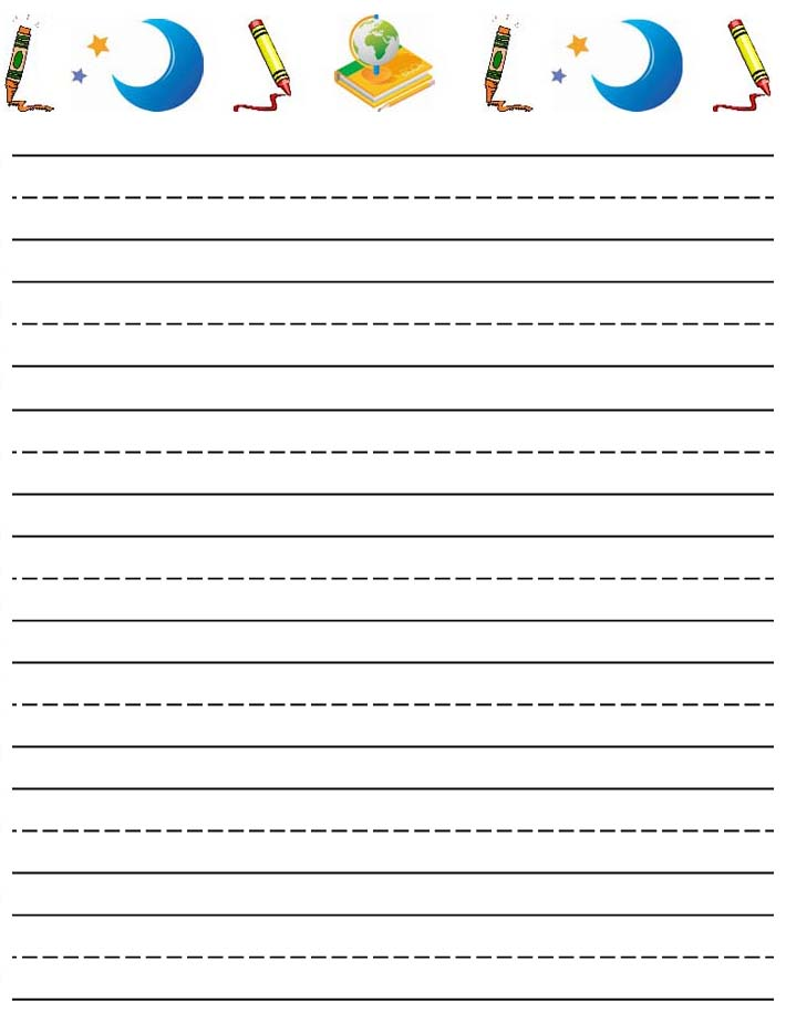 Free Printable Lined Writing Paper Kids