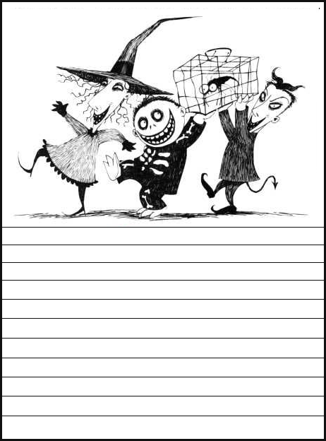 Printable Nightmare Before Christmas