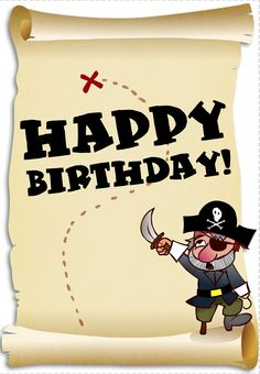 6 Images of Free Printable Pirate Party Banner