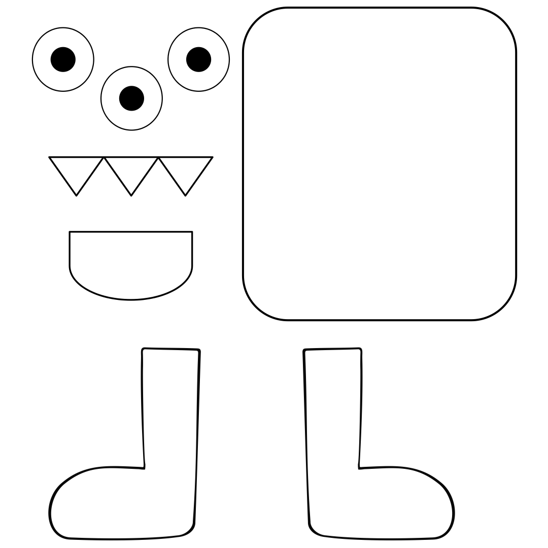 6 Images of Kindergarten Halloween Craft Printables