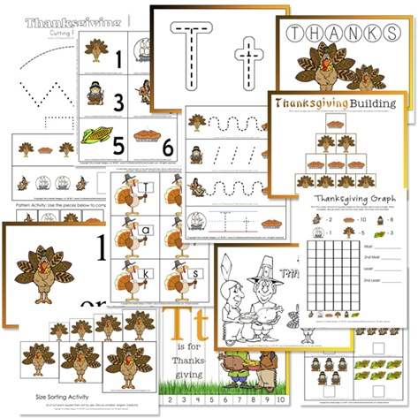 7 Images of Printable Preschool Thanksgiving Activities