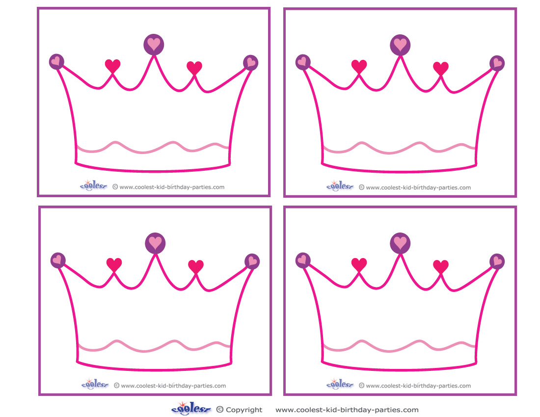 free printable tiara template - 8 best images of printable princess template free