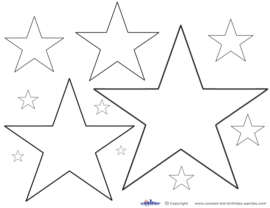 4 Images of Free Printable Star Stencils