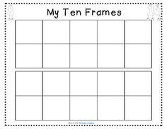 Free Printable Tens Frames Templates