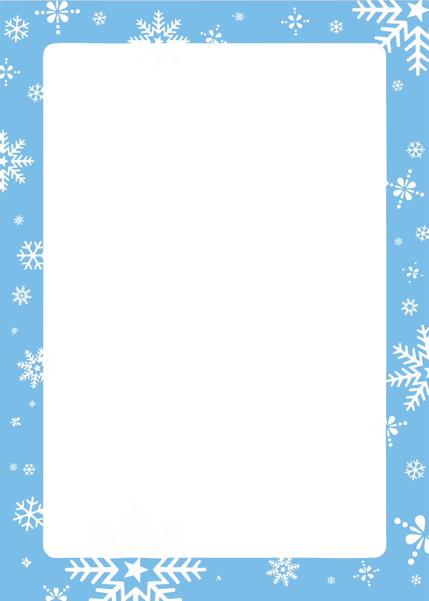 7 Images of Free Winter Printable Borders