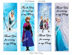 4 Images of Olaf Printable Bookmarks