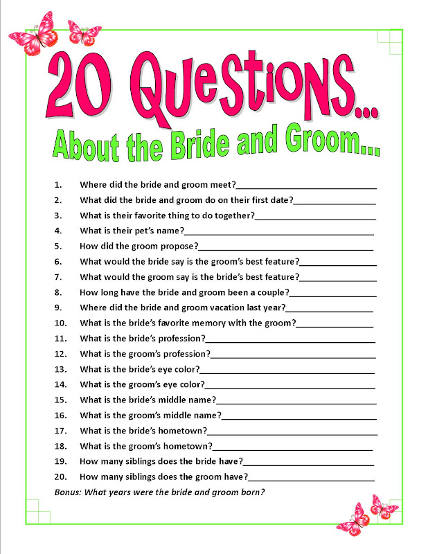 5 best images of 20 questions bridal shower games