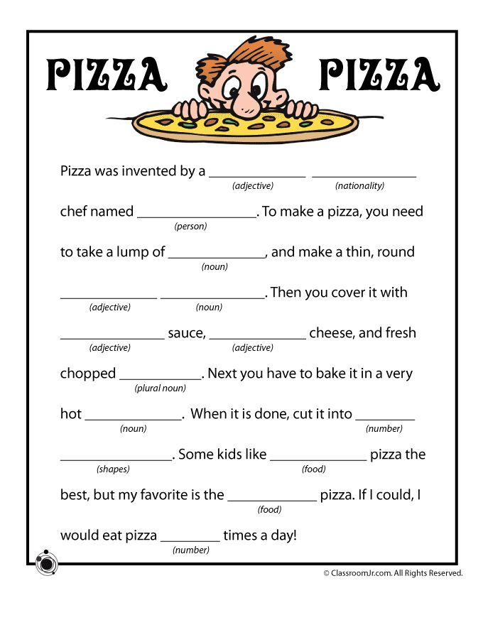 5 Images of Summer Mad Libs Printable