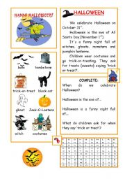 5 Images of Hallowen Printable Bookmarks