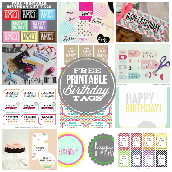 6 Images of Free Happy Birthday Printable Gift Tags