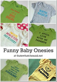 6 Images of Printable Funny Saying For Onesies