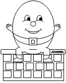 6 best images of humpty dumpty craft printable free for Humpty dumpty puzzle template