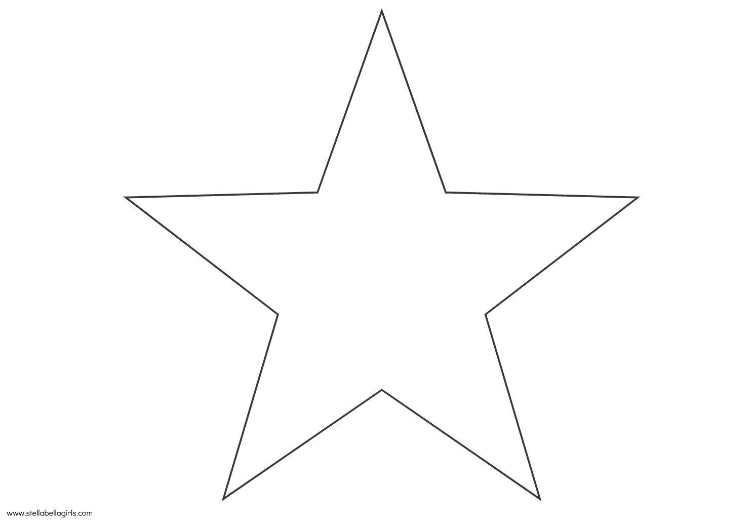6 Images of Star Template Stencil Printable