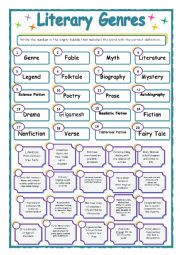 Printables Genre Worksheet 7 best images of reading genres printable worksheets literary worksheets