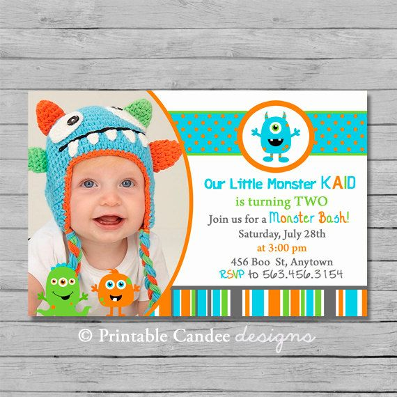 7 Images of 1st Birthday Monster Printables