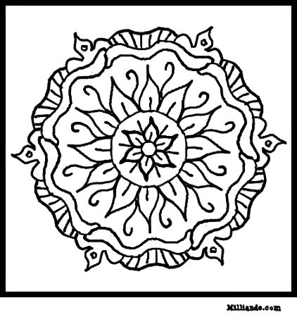 6 Images of Mandala Art Coloring Pages Printable