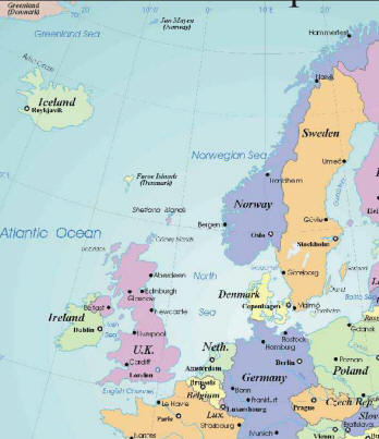 4 Images of Printable Map Of Northern Europe