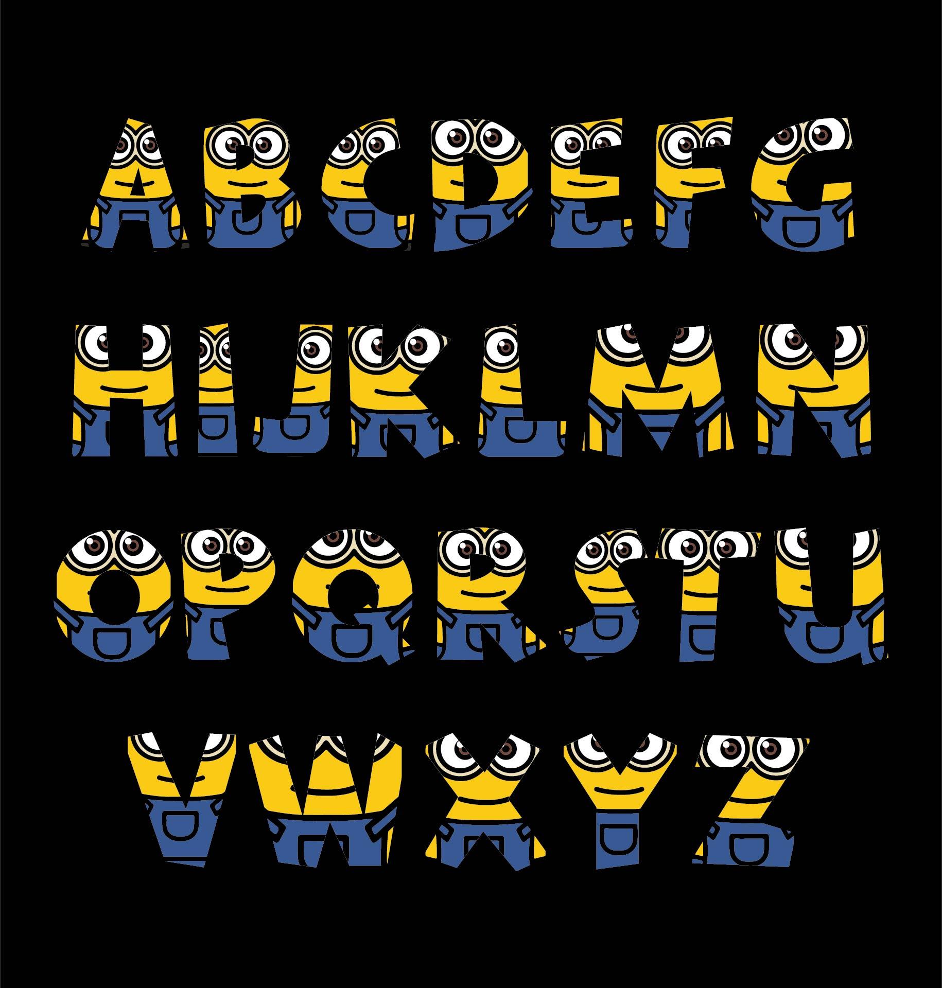 Minion Alphabet Letters Clip Art