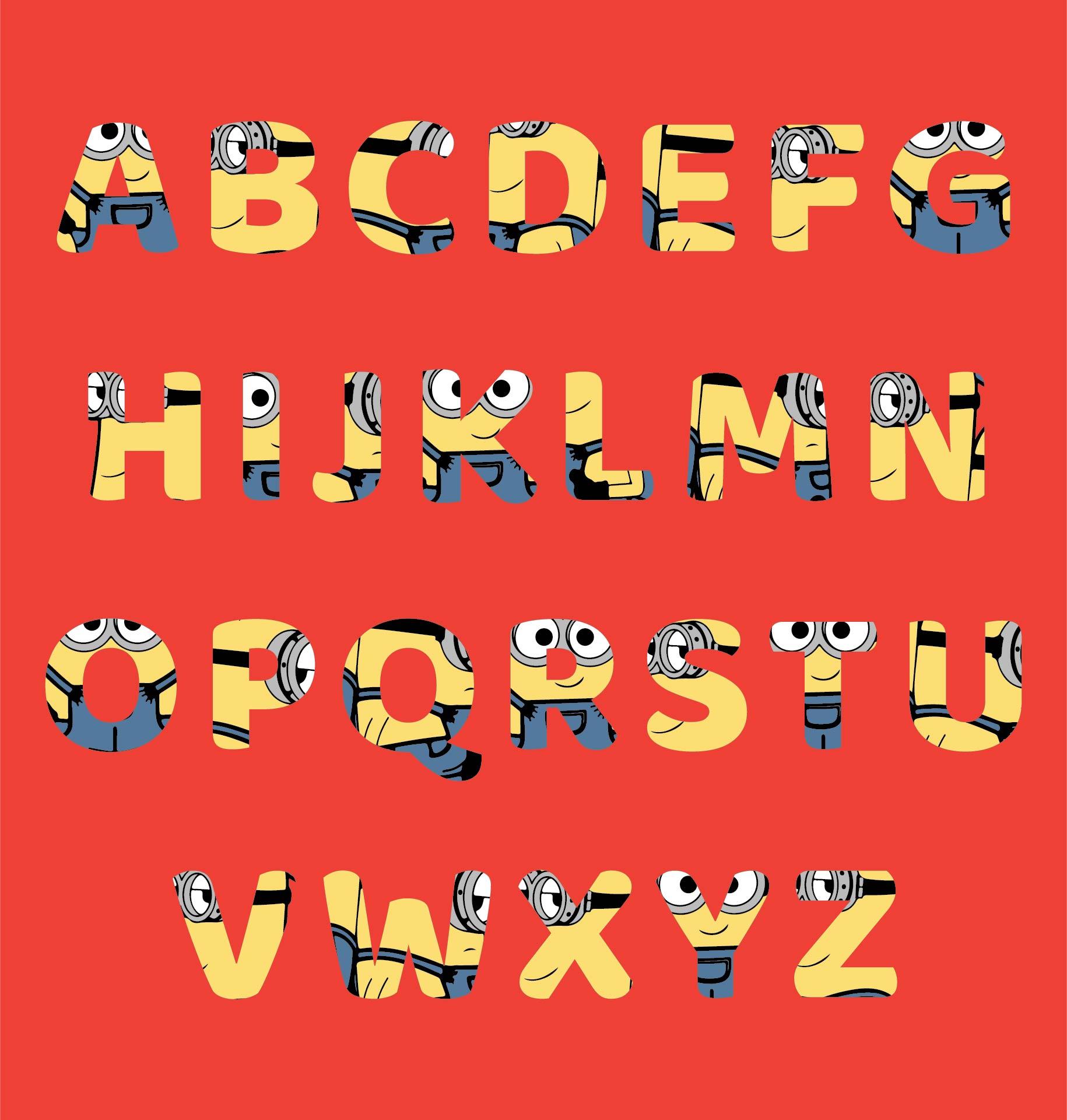 Minion Printable Letters