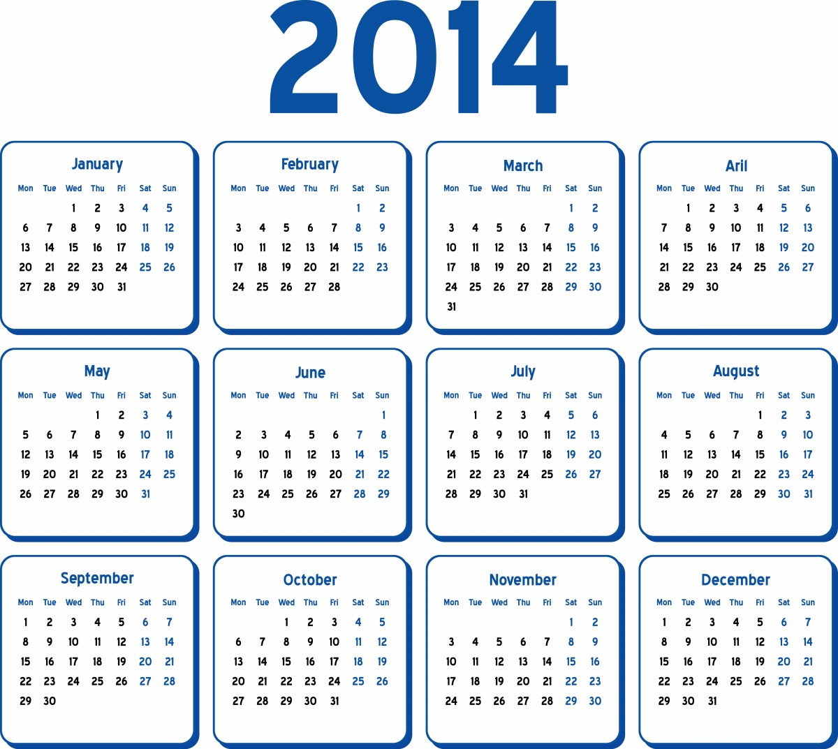 5 Images of 2014 Calendar Printable Org