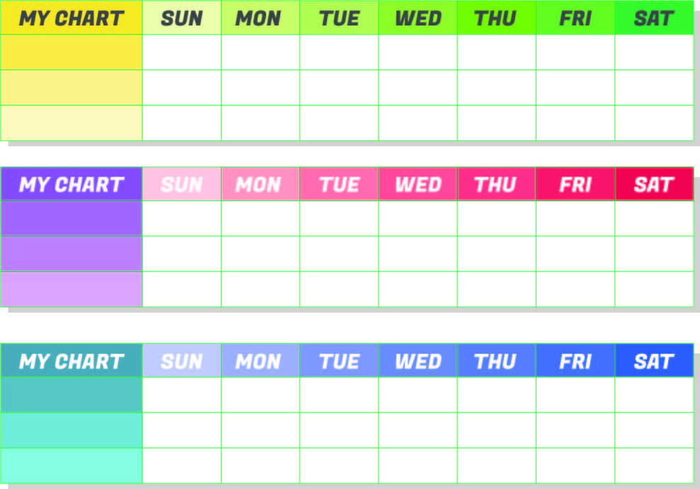 Monthly Chore Chart