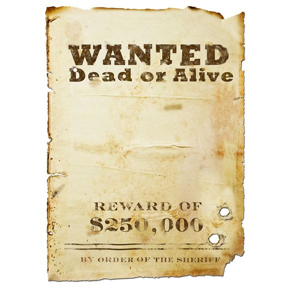 8 best images of free printable wanted posters printable for Free wanted poster template