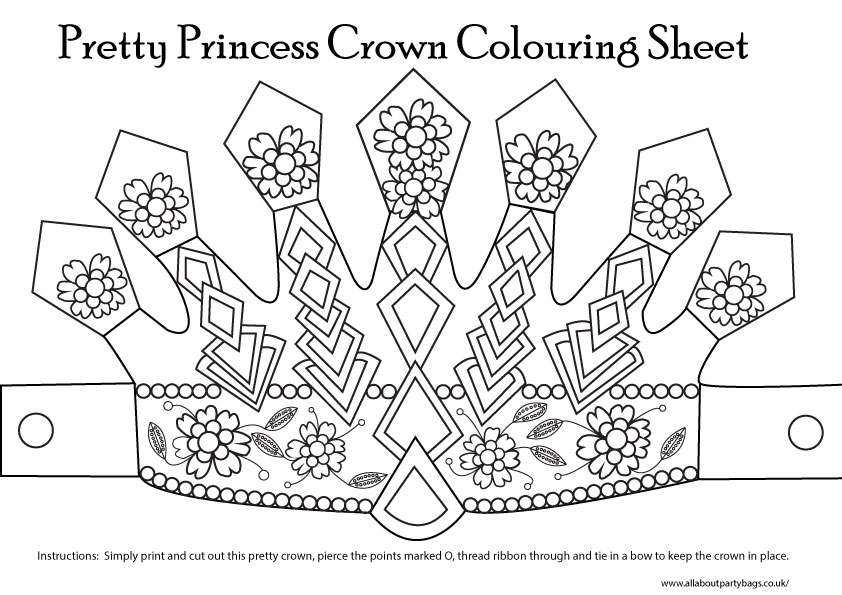 8 best images of printable princess template free for Paper crown template for kids