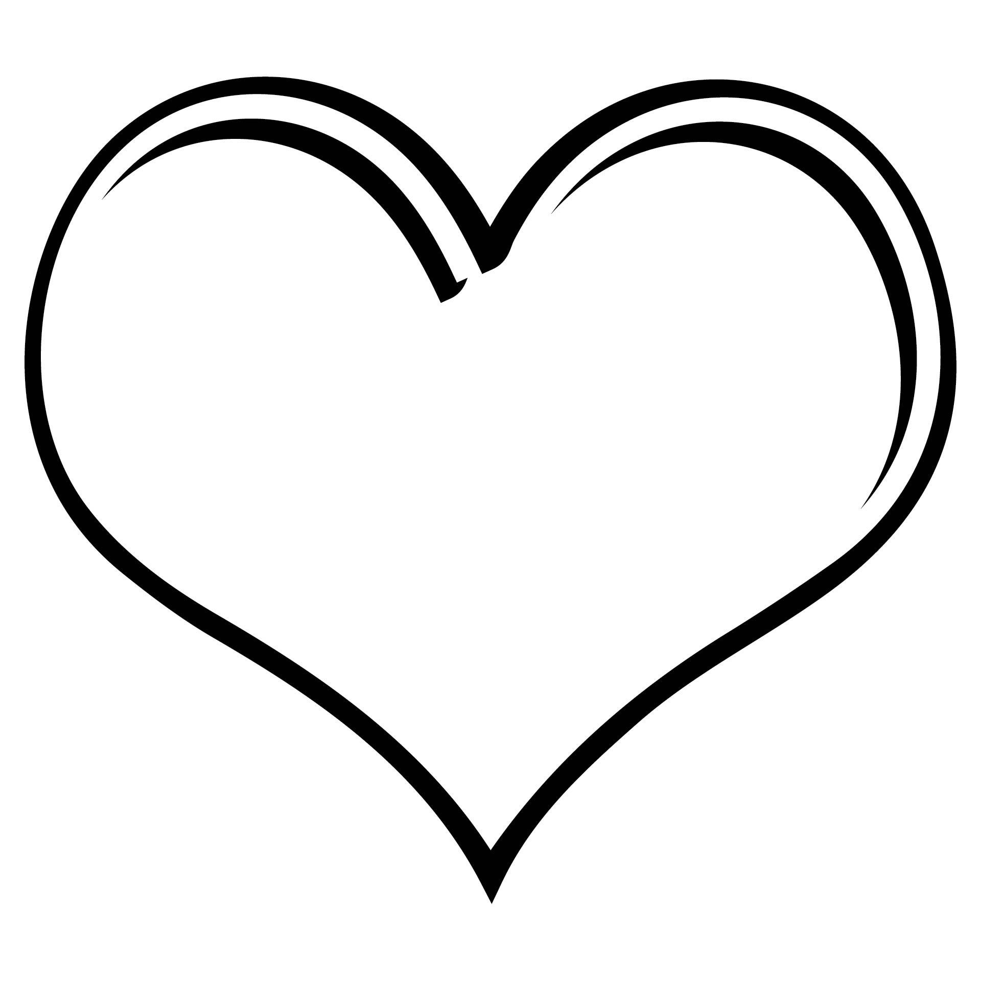 Printable 2 Inch Heart Stencil