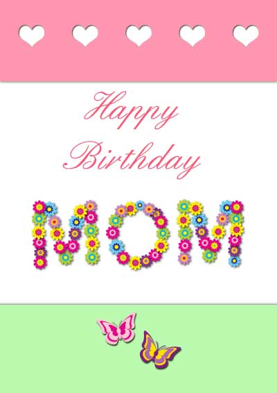 Zany image for free printable birthday cards for mom