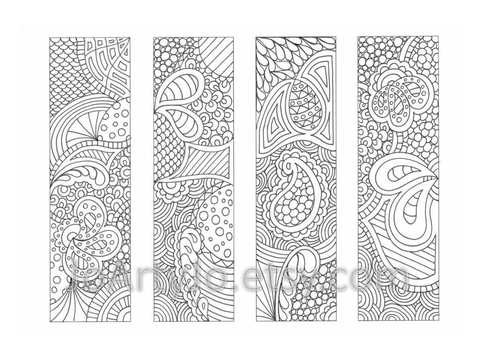 8 Best Images of Full Color Printable Bookmarks