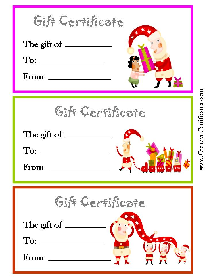 ... Template and Personal Printable Gift Certificates / printablee.com