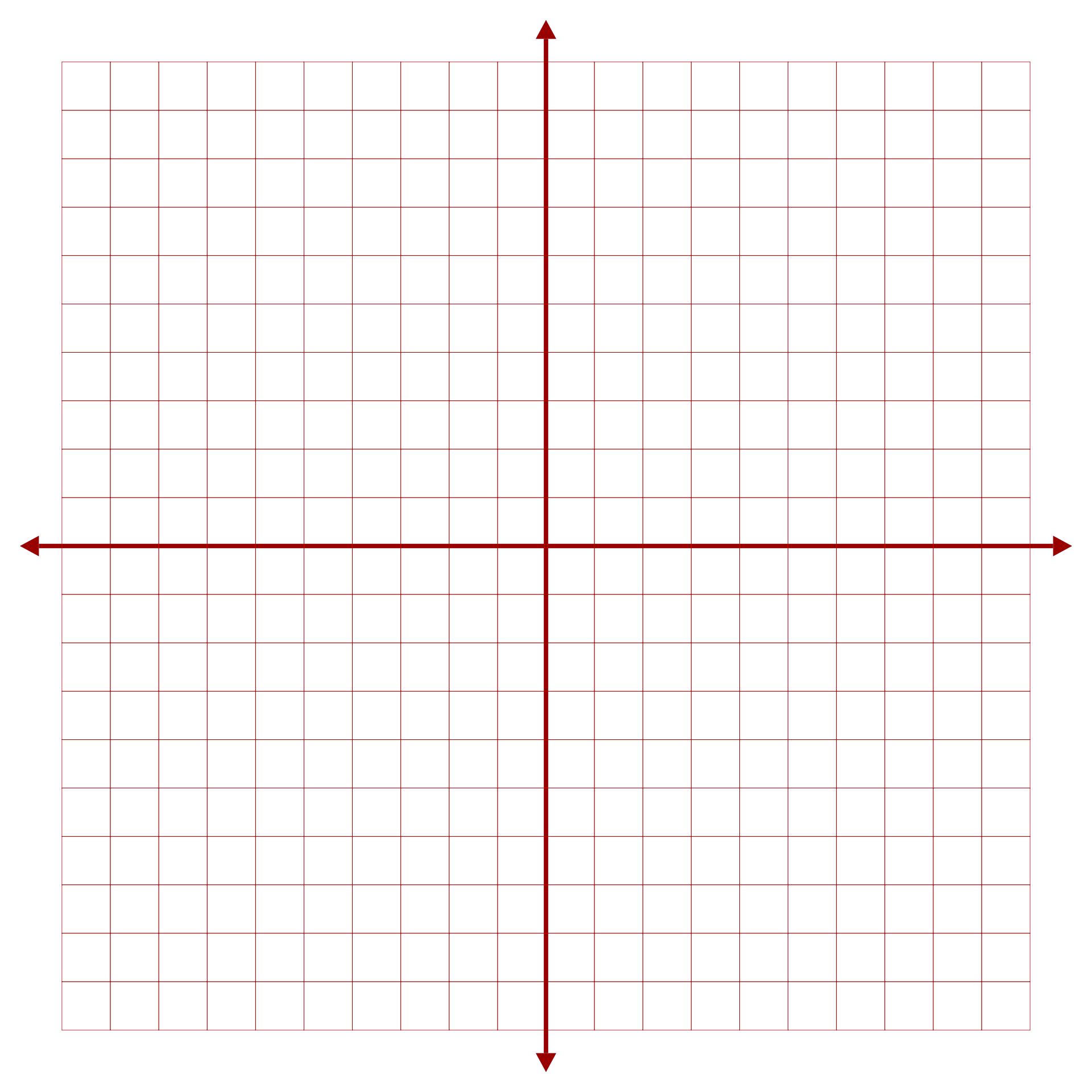 Printable Coordinate Graph Paper