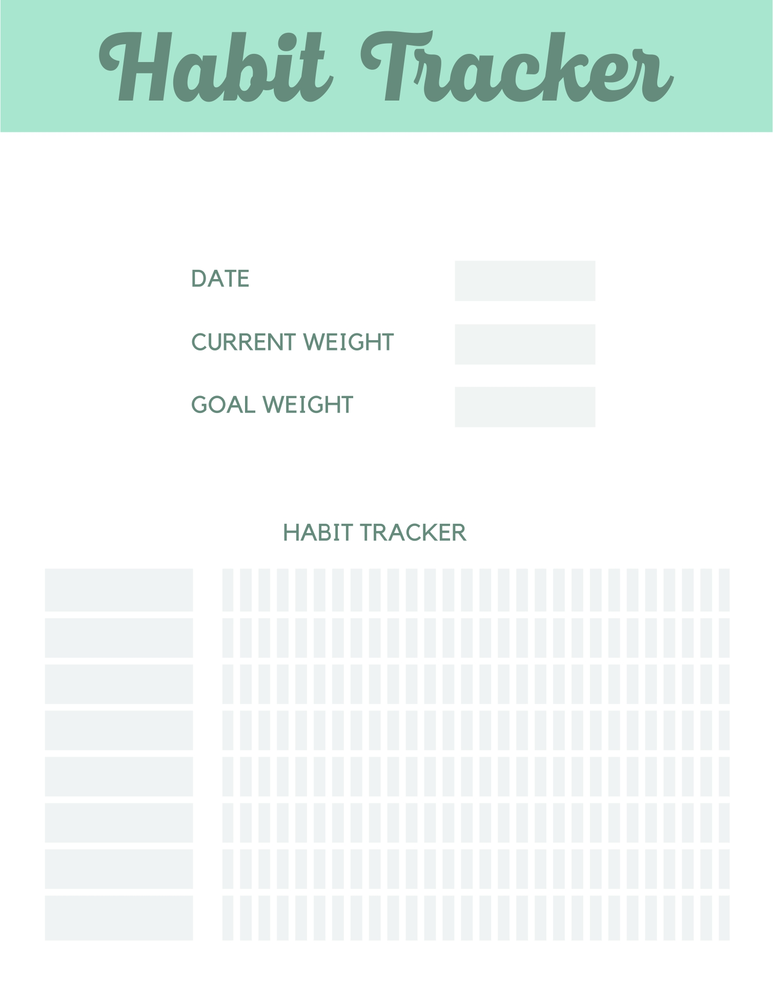 Printable Daily Weight Loss Journal
