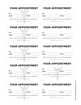7 Images of Free Printable Appointment Reminder Cards