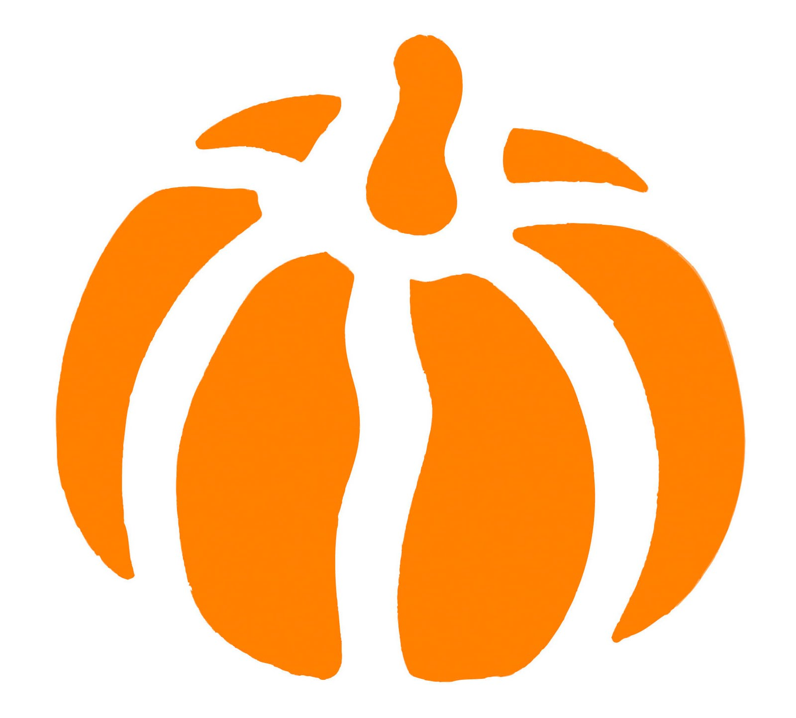 6 best images of fall pumpkin stencils free printable for Fall pumpkin stencils