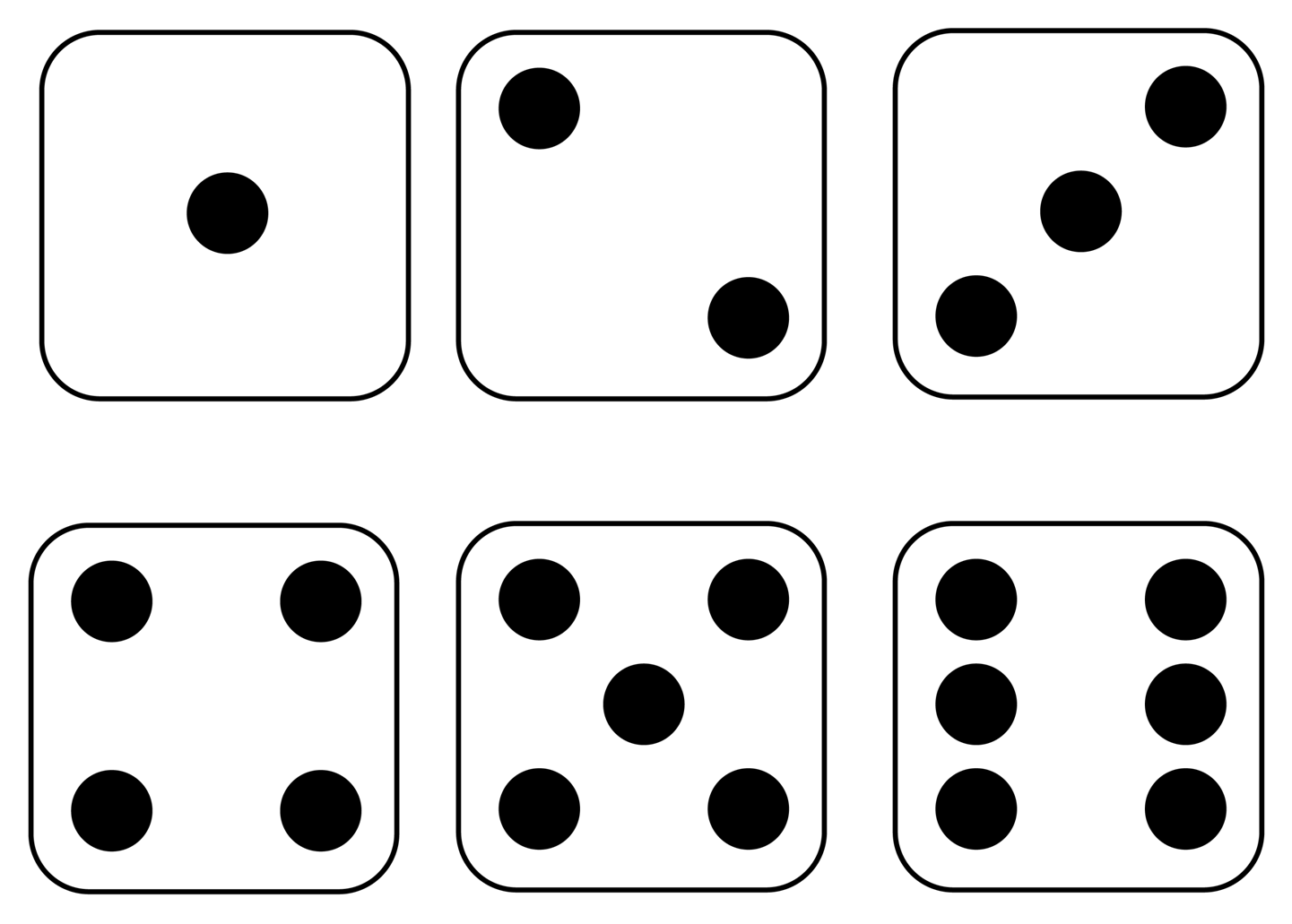 5 Images of Giant Dice Printable