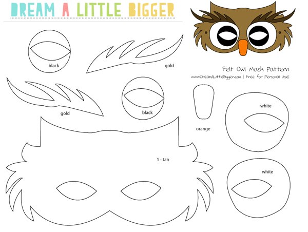 9 Images of Printable Owl Mask Pattern