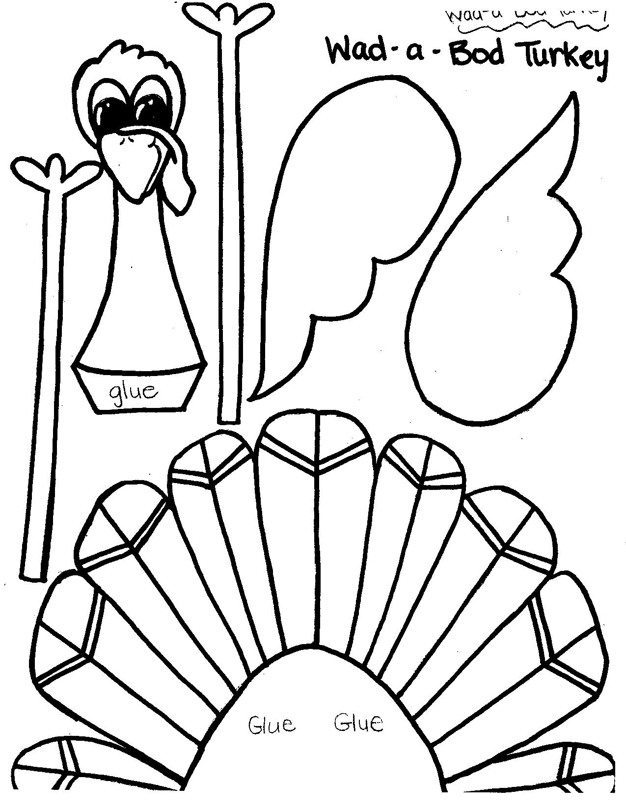 8 best images of turkey cut out printable thanksgiving for Printable turkey coloring pages free